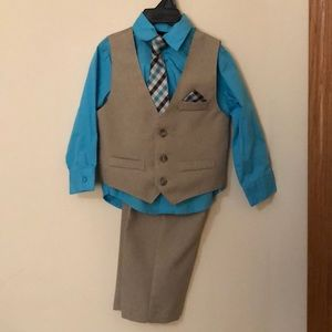 4 piece toddler boy suit